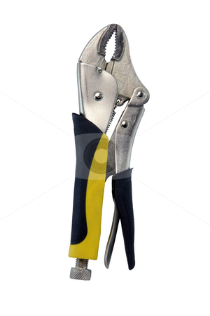 LockJaw with clipping path stock photo, LockJaw industrial tool  isolated on white background with clipping path tools and hardware by EVANGELOS THOMAIDIS