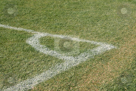 Soccer corner detail  stock photo, Corner detail from soccer field sports concepts by EVANGELOS THOMAIDIS