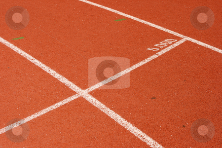 Five thousand mark stock photo, Five thousand meters mark detail from race track sports concepts by EVANGELOS THOMAIDIS