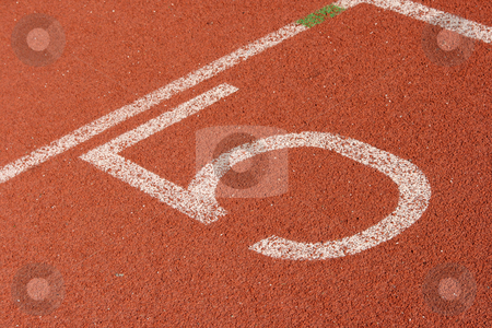 Track lane five stock photo, Race track lane five detail sports concepts by EVANGELOS THOMAIDIS