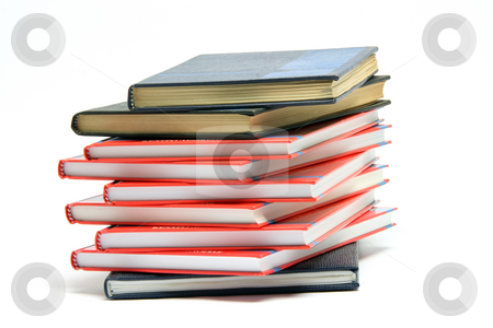 Stack of books isolated stock photo, Stack of books isolated on white background by EVANGELOS THOMAIDIS