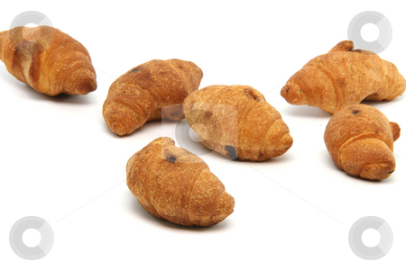 Mini croisants isolated stock photo, Mini croisants isolated on white background food concepts by EVANGELOS THOMAIDIS