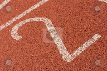 Second lane stock photo, Second lane race track detail sports concepts by EVANGELOS THOMAIDIS