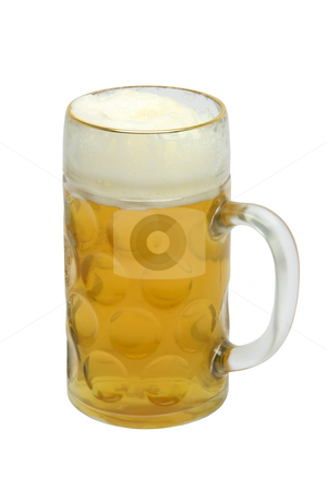 Isolated beer mug stock photo, Classic bavarian beer mug isolated on white background with clipping path by EVANGELOS THOMAIDIS