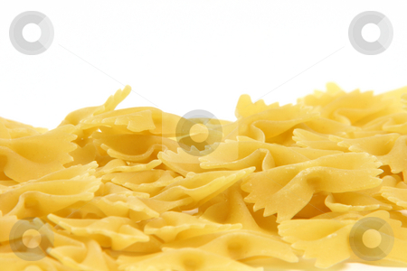 Pasta copy space stock photo, Pasta closeup isolated on white background with copy space on the top by EVANGELOS THOMAIDIS