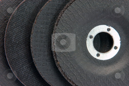 Cutting wheels background stock photo, Construction industry cutting wheels assortment for background use hardware tools by EVANGELOS THOMAIDIS