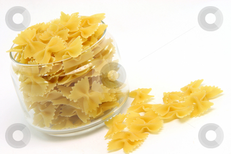Farfale pasta stock photo, Farfale pasta  isolated on white background food concepts by EVANGELOS THOMAIDIS