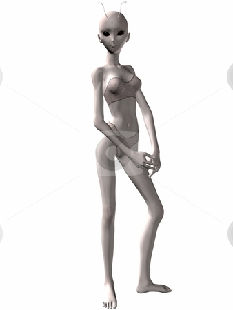 Lovely Alien stock photo, 3D Render of an Lovely Alien by Andreas Meyer