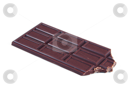 Chocolate Candy Bar stock photo, A delicious chocolate candy bar on a plate. by Robert Byron