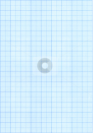 Graphpaper stock photo, High resolution blue graph paper. by Stephen Rees