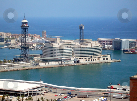 Barcelona Port Spain stock photo, General view of port of Barcelona, Spain. by Martin Crowdy