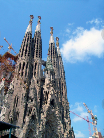 Sagrada Familia Barcelona stock photo, Exterior view of Sagrada Familia in Barcelona, Spain. by Martin Crowdy