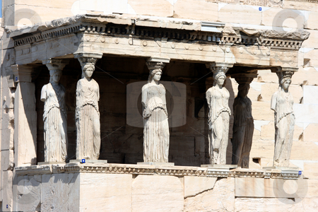 Erechteum athens greece stock photo, Caryatids at Erechtheum of Parthenon in Athens Greece by EVANGELOS THOMAIDIS