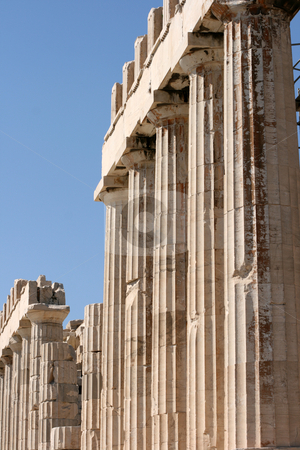 Pillars of parthenon stock photo, Pillars of parthenon detail from acropolis of athens greece by EVANGELOS THOMAIDIS