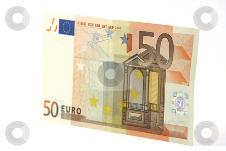Banknote isolated stock photo, Fifty euro banknote isolated on white background by EVANGELOS THOMAIDIS
