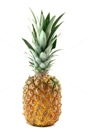 Ananas isolated stock photo, Ananas isolated on white background fruits vegetables and agriculture concepts by EVANGELOS THOMAIDIS