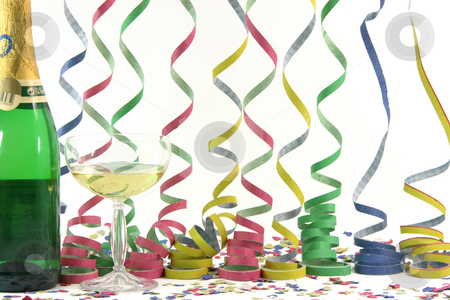 Celebration streamers stock photo, Party favors by EVANGELOS THOMAIDIS