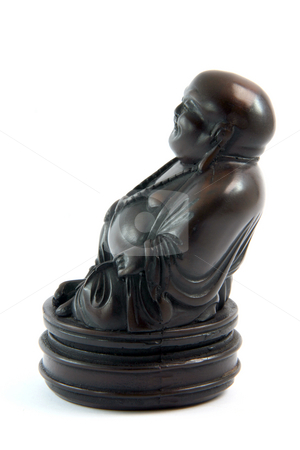 Religious buddha statue  stock photo, Small black handcrafted buddha statue religious and decoration concepts by EVANGELOS THOMAIDIS