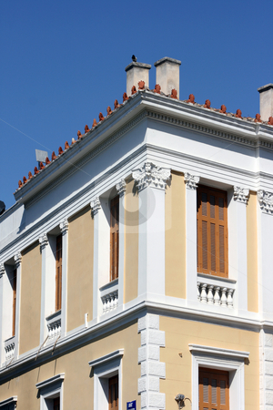 Neoclassic house stock photo, Detail from neoclassic house in athens greece architecture concepts by EVANGELOS THOMAIDIS
