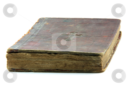Old bible isolated stock photo, Old bible isolated on white background religious concepts by EVANGELOS THOMAIDIS