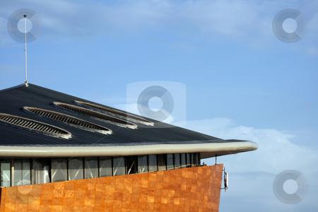 Hitech roof stock photo, Modern design roof detail from taekwon do stadium at palaio falifo piraeus athens greece by EVANGELOS THOMAIDIS