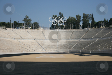 Athens olympic stadium  stock photo, Kalimarmaro stadium in athens greece the stadium where the first new olympic games started by EVANGELOS THOMAIDIS