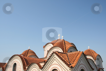 Church roof  stock photo, Classic byzantine style church roof detail from greece by EVANGELOS THOMAIDIS