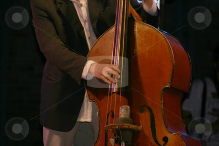 Bass player 2 stock photo, Bass player in action music and leisure from music festival by EVANGELOS THOMAIDIS