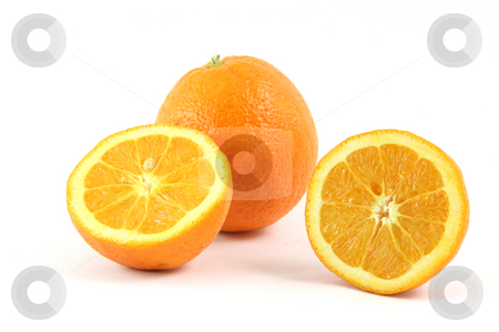 One and a half orange stock photo, One and half pices of orange isolated on white background by EVANGELOS THOMAIDIS