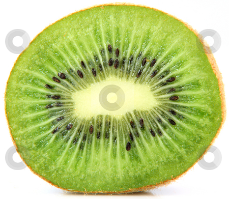 Kiwi inside  stock photo, Kiwi fruit isolated on white background closeup healthy eating and agriculture concepts by EVANGELOS THOMAIDIS