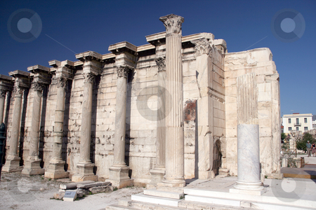 Hadrians library stock photo, The ancient library of hadrian in down town of athens greece by EVANGELOS THOMAIDIS