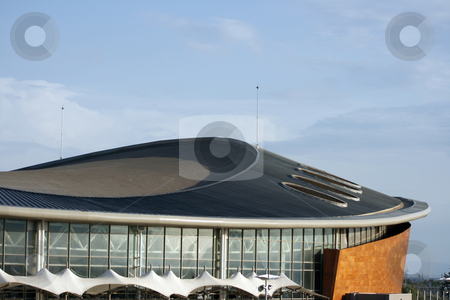 Architechture detail foof stock photo, Architecture details from modern stadium at palaio faliro piraeus athens greece roof by EVANGELOS THOMAIDIS