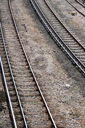 Railways stock photo, Railways train railroad courve detail transportation industry by EVANGELOS THOMAIDIS
