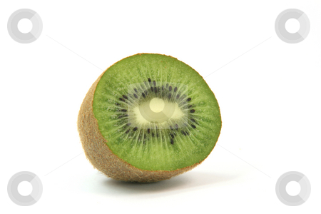 Half kiwi stock photo, Half kiwi fruit isolated on white background healthy eating and agriculture concepts by EVANGELOS THOMAIDIS