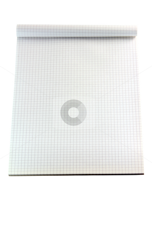 Note book path stock photo, Square lines blank note book isolated on white backround with clipping path by EVANGELOS THOMAIDIS