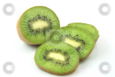 Slices of kiwi stock photo, Slices of kiwi isolated on white background healthy eating and agriculture concepts by EVANGELOS THOMAIDIS