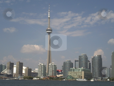 Toronto Skyline stock photo, Front of toronto skyline by CHERYL LAFOND