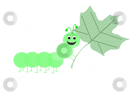 Willie the caterpillar stock photo, Combination of vecor and rastor layers to create an illustration by Michelle Bergkamp
