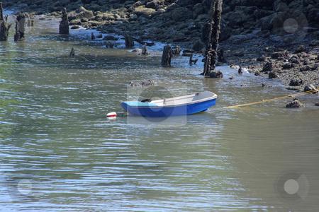 Rowboat at low tide