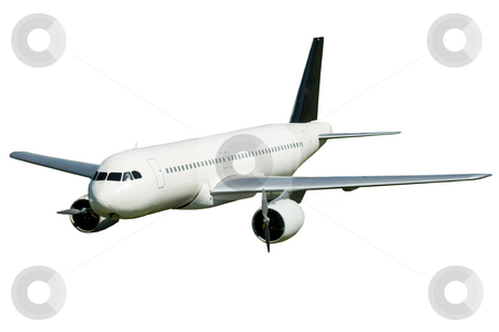 Passenger Jet stock photo, A model of a large passenger jet, isolated on a white background by Richard Nelson