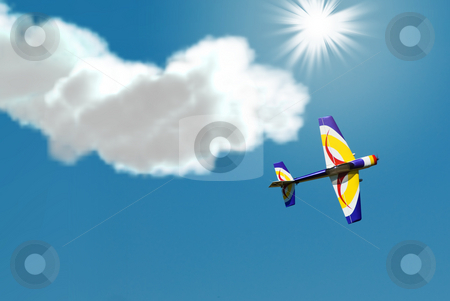 Stunt Plane stock photo, A small stunt plane doing tricks in the sky by Richard Nelson
