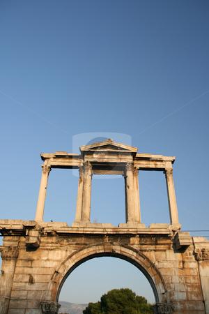 Hadrian arch stock photo, Roman gate hadrians arch landmarks of athens greece by EVANGELOS THOMAIDIS