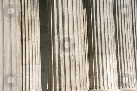 Corinthian pillars stock photo, Marble corinthian pillars detail for texture or background use by EVANGELOS THOMAIDIS