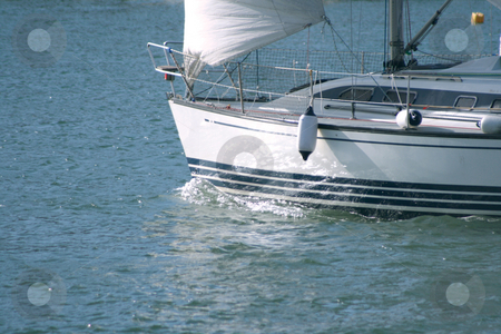 Sailing in the sea stock photo, Sailing in the sea detail from sail yacht by EVANGELOS THOMAIDIS
