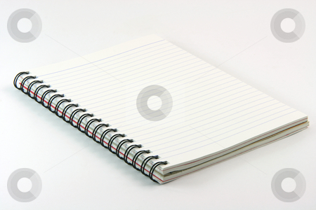 Spiral notebook stock photo, Spiral notebook on white background business concepts by EVANGELOS THOMAIDIS