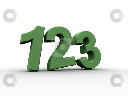 Children's Mathematic Class stock photo, 3D rendered numbers one two three by Pei Ling Hoo