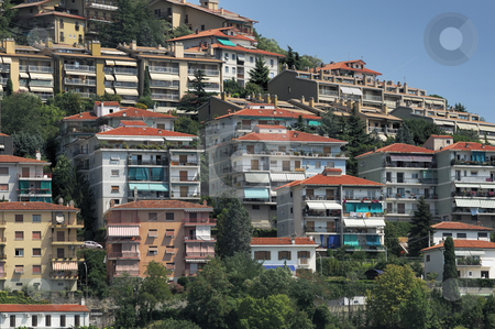 Urban scene stock photo, Panoramic buildings on a residential hill by Massimiliano Leban