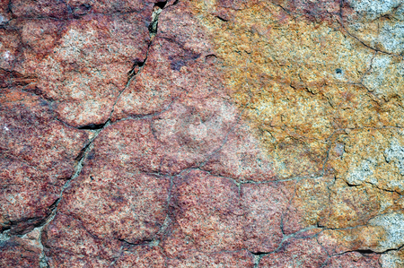 Granite Stained By Nature stock photo, Granite background stained in many colorful shades by nature. by Lynn Bendickson