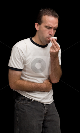 Belly Ache stock photo, A young man sick with a belly ache by Richard Nelson