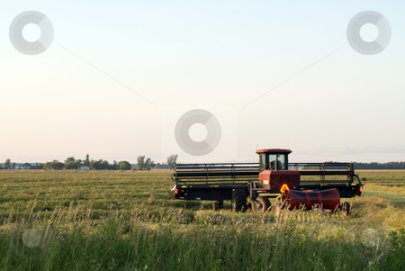 Harvest Time stock photo, A combine about to start harvesting a field by Richard Nelson